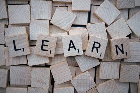 Canva - Learn, Word, Scrabble, Letters, Wooden